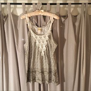 Anthropologie Tank crochet & Sequin